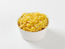 Uncooked bow tie pasta Royalty Free Stock Image