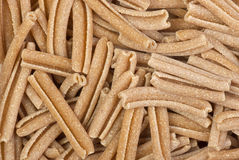 Uncooked bran pasta Royalty Free Stock Photo