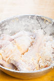 Uncooked breaded chicken Royalty Free Stock Photo