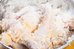 Uncooked breaded chicken Royalty Free Stock Photography