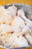 Uncooked breaded chicken Royalty Free Stock Images
