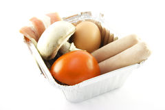 Uncooked Breakfast Royalty Free Stock Image