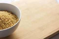 Uncooked brown rice Royalty Free Stock Images