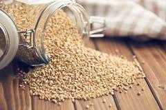 Uncooked buckwheat Stock Photo