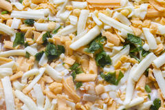 Uncooked cheese topping Royalty Free Stock Images