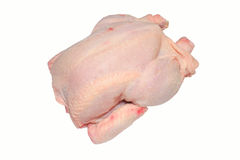 Uncooked chicken. Isolated uncooked chicken on white background stock photos