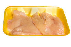 Uncooked Chicken Cutlet breast Royalty Free Stock Photos