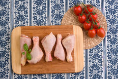 Uncooked chicken parts Stock Photo
