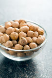 Uncooked chickpeas in bowl Royalty Free Stock Photo