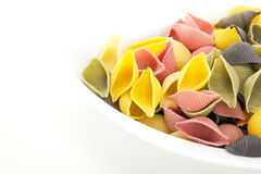 Uncooked colorful italian noodles Royalty Free Stock Image
