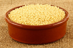 Uncooked couscous Royalty Free Stock Photography