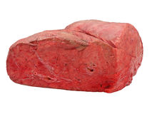 Uncooked cow lung. Uncooked cow lung isolated on a white background Stock Images