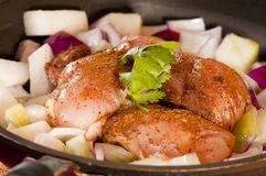 Uncooked dish Stock Photo