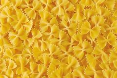 Uncooked farfalle pasta Stock Photography