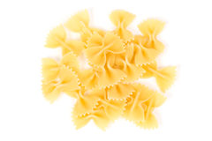 Uncooked farfalle pasta Royalty Free Stock Image