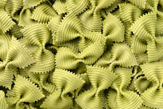 Uncooked farfalle pasta Royalty Free Stock Photography