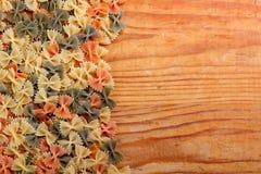 Uncooked farfalle pasta Stock Photo