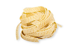 Uncooked Fettuccini Nest Royalty Free Stock Image