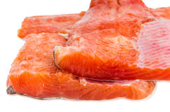 Uncooked fillet of rainbow trout closeup Stock Photos