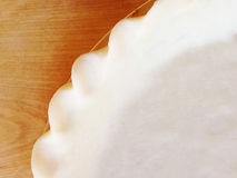 Uncooked fluted pie crust Royalty Free Stock Images