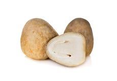 Uncooked fresh Straw mushrooms on white. Background Royalty Free Stock Photography