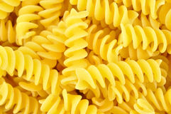Uncooked fusilli, italian pasta Stock Photo