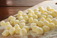 Uncooked Gnocchi  pasta Stock Image