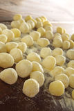 Uncooked Gnocchi  pasta Royalty Free Stock Photos