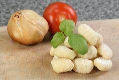 Uncooked gnocchi Stock Photo