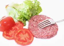 Uncooked hamburger Royalty Free Stock Images