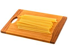 Uncooked homemade egg pasta Royalty Free Stock Photos
