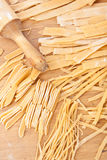 Uncooked homemade egg pasta Royalty Free Stock Photography
