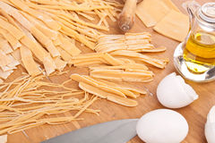 Uncooked Homemade Egg Pasta Stock Image