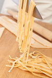 Uncooked homemade egg pasta Royalty Free Stock Images