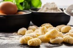 Uncooked homemade gnocchi Stock Image