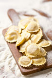 Uncooked homemade ravioli Royalty Free Stock Photos