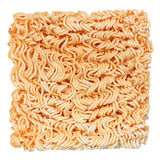 Uncooked instant noodle isolated Stock Image