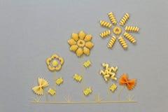 Uncooked italian pasta Royalty Free Stock Photography