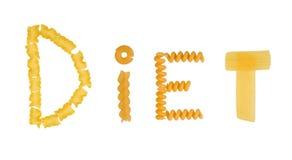 Uncooked italian pasta Stock Image