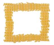 Uncooked italian pasta frame Stock Photos