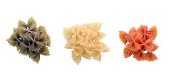 Uncooked italian pasta Stock Images