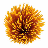 Uncooked italian spaghetti. Royalty Free Stock Image