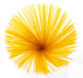 Uncooked Italian spaghetti Royalty Free Stock Images