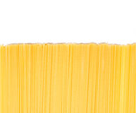 Uncooked Italian spaghetti isolated Royalty Free Stock Photography