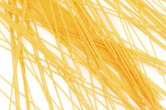 Uncooked italian spaghetti mesh background Royalty Free Stock Photography