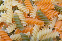 Uncooked Italian Spiral Pasta Royalty Free Stock Image