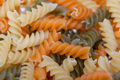 Uncooked Italian Spiral Pasta Royalty Free Stock Photography
