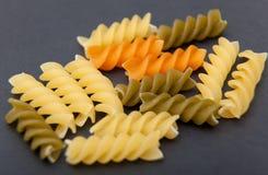 Uncooked Italian Spiral Pasta Stock Photography