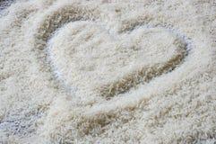 Uncooked jasmine rice Stock Photo