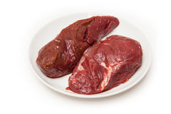 Uncooked kangaroo meat steaks Royalty Free Stock Photo